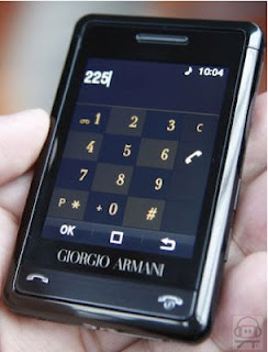 Samsung Armani large touch screen phone