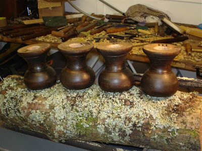 Georgian-Mahogany-Bun-Feet-Wet-Wood-Turning