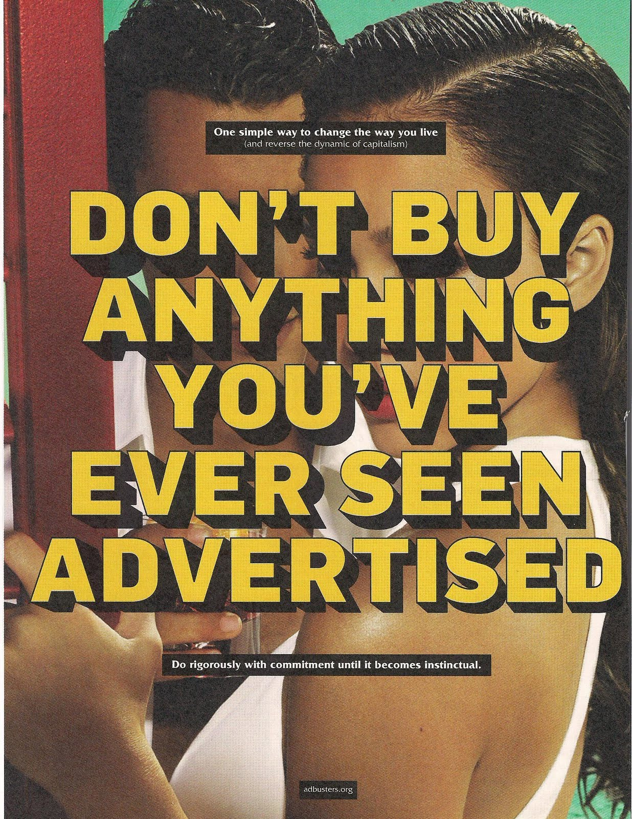 Non comprare nulla che sia pubblicizzato