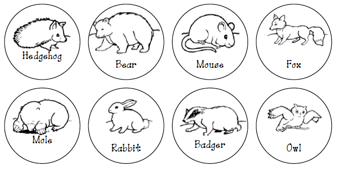 Influential image with the mitten animals printable