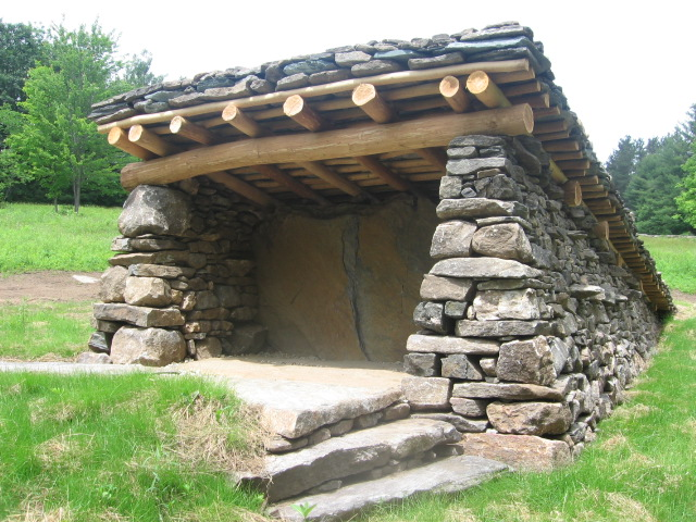 Slipform Stone Masonry : Making cement for shelter page