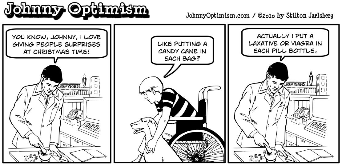 Johnny Optimism,johnnyoptimism, pharmacist, christmas