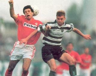 Juskowiak em acção num jogo contra o Salgueiros