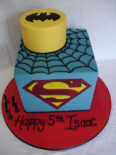 Superhero Birthday Cake My Little Man Turned 5 Yesterday And Like Most Boys His Age Is Into Superman Batman Spiderman The Irony Being That He