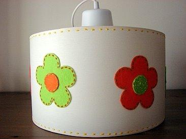 Candeeiro Branco com Flores