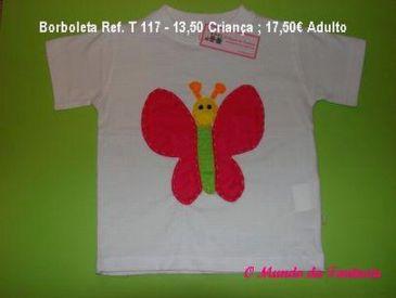 T- shirt Borboleta