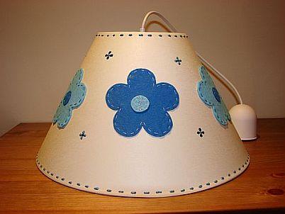 Candeeiro Flores Azuis