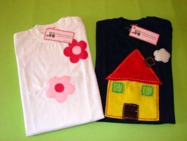 T-shirt Flores / Casa