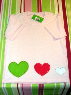 T- shirt Corações