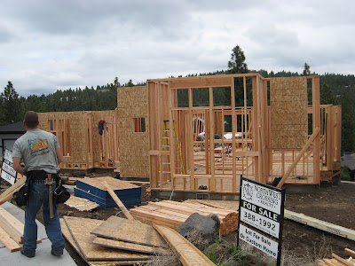 Another custom house construction project underway near Bend, Oregon.
