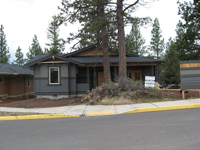 Custom house construction project underway in Bend, Oregon.
