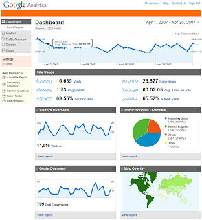 dashboard1 New Google Analytics just anounced!
