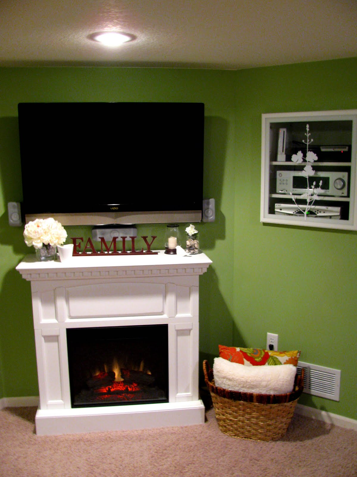 mantel  tv ideas on pinterest corner fireplaces  cable in the wall storage cabinet Cabinet Between Wall Studs