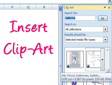 Insert Clipart Into Label