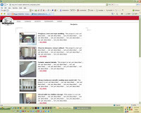 Projects page of web site for Master Cabinetworks, Inc.