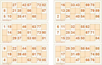 Cartones De Bingo De 80 Bolas Para Imprimir Pdf De Los Dos Fuistes Fasrbuy