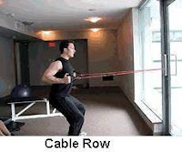 Cable Row with cable and weights