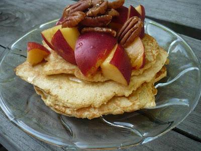 Organic gluten-free pancake breakfast