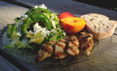 Chicken and scrumptious salad