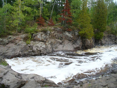 Rushing rivers abounded, even in these times of drought