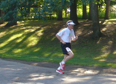 Don finishing the 5-mile