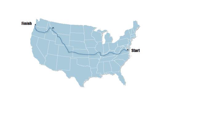 Transamercia Trip Map