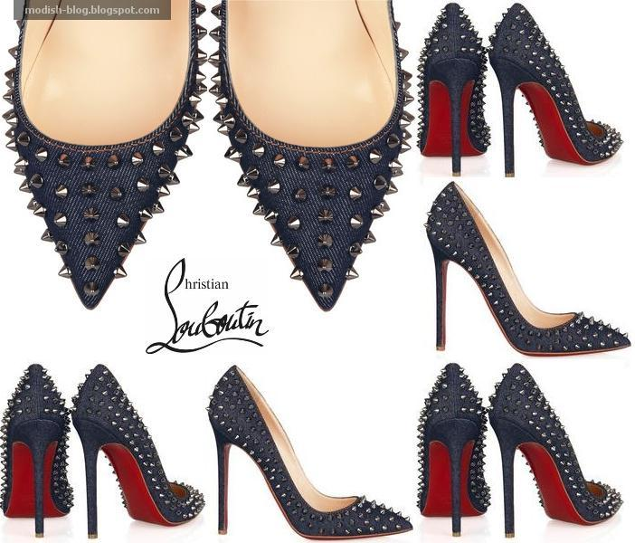 hot sale online 237df 3e663 Modish Blog: Picks: Christian Louboutin Studded Denim Pumps