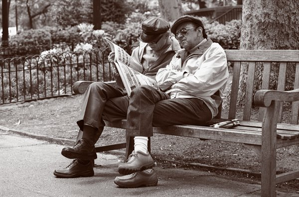 4_Rittenhouse Square_ Reading to his blind friend