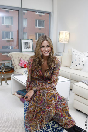 WALLPAPER: Olivia Palermo's apartment