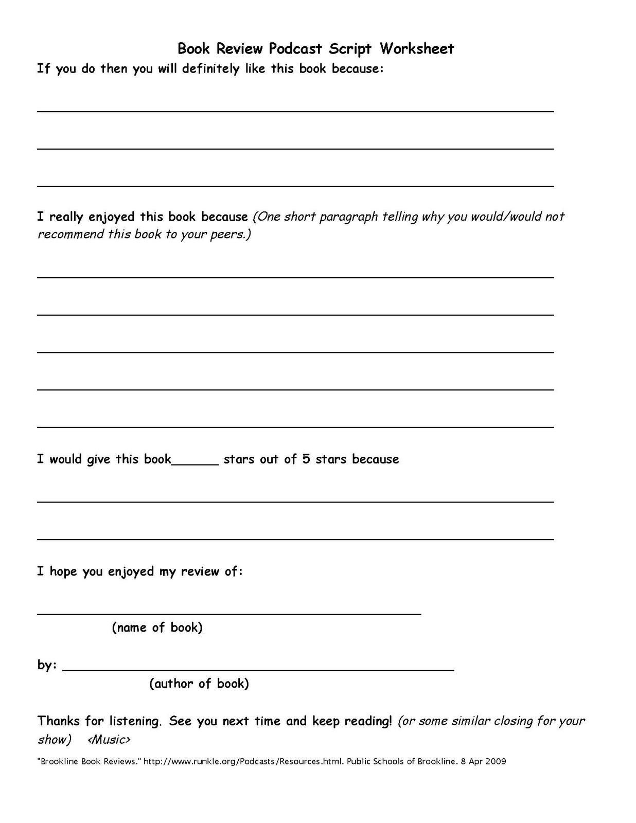 Book report for elementry students – Book Review Worksheet