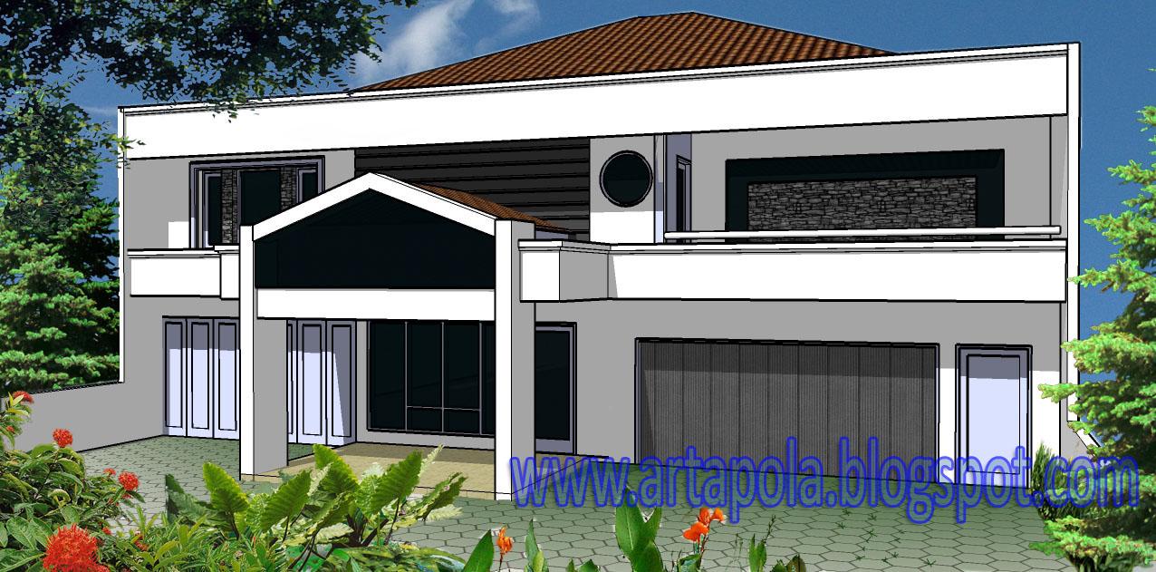 Gambar Desain Rumah Minimalis Dengan Coreldraw Wallpaper Dinding