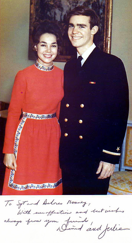 43988475c90 Dwight Eisenhower s Grandson David married Richard Nixon s daughter Julie  and Mrs. Moaney stayed with the family to cook great meals for them. When  Richard ...