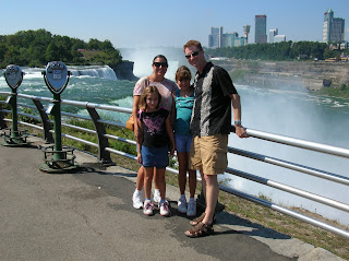 The family at Niagara Falls