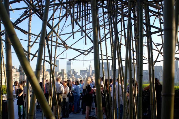 "Nyc Doug And Mike Starn' Monumental Bamboo Installation ""big Bamb"" Roof Garden"