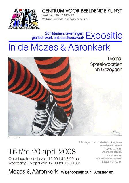Poster Mozes en Aaronkerk expositie