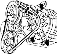 Serpentine belt diagram: January 2009