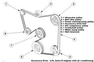 Serpentine belt diagram: Zetec serpentine belt diagram