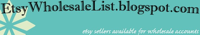 Etsy Sellers Do Wholesale!