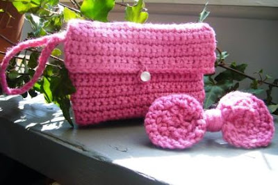 Crochet Wristlet and Crochet Hairbow