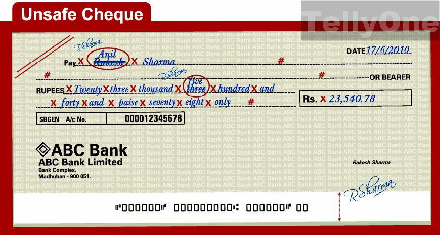 How to write a cheque santander totta
