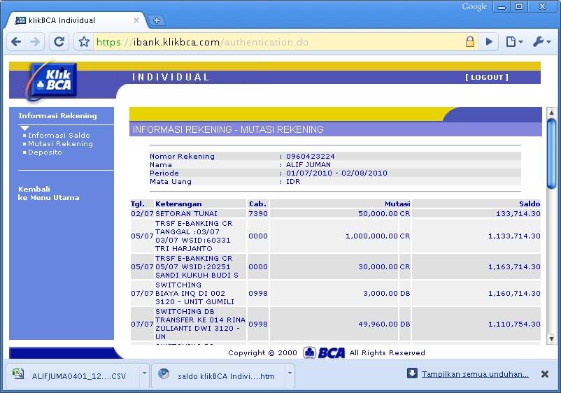Mendaftar Dan Memanfaatkan Internet Banking BCA