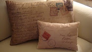 Postcard pillows