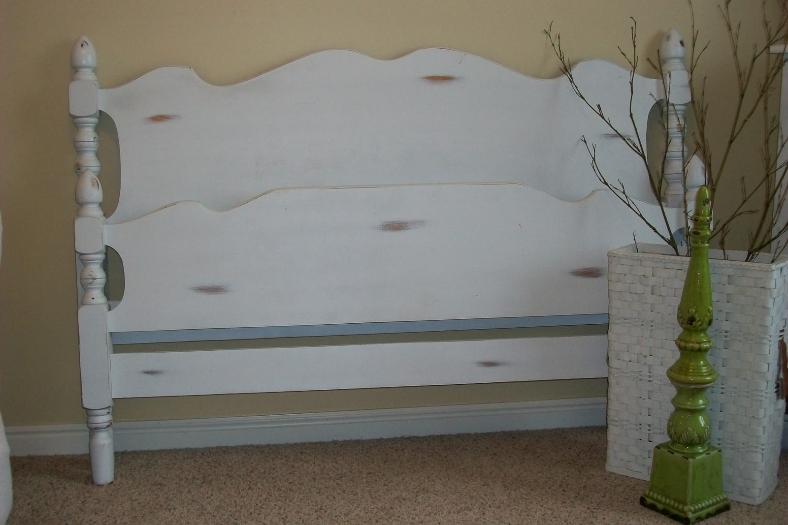 Distressed Headboard Footboard Sold