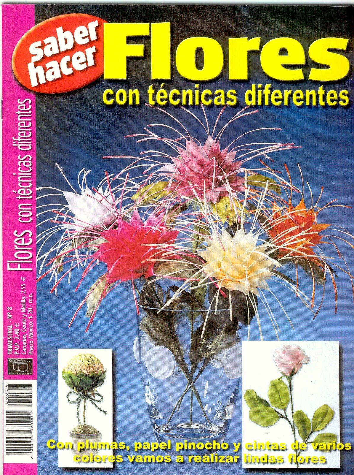 Revista: Saber hacer. Flores con técnicas diferentes