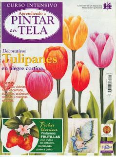 Pintar en Tela Nro. 14 especial Tulipanes