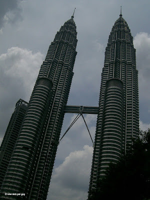 Petronas Twin Towers on a cloudy day