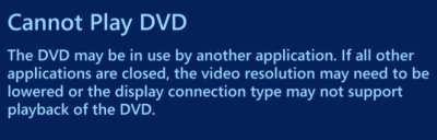 Vista refuses to play DVDs on RPC1 drives