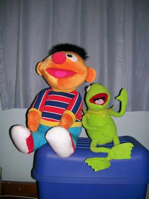 Ernie and Kermit