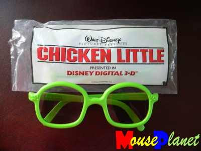 3D glasses used in Chicken little - Pic from mouseplanet.com