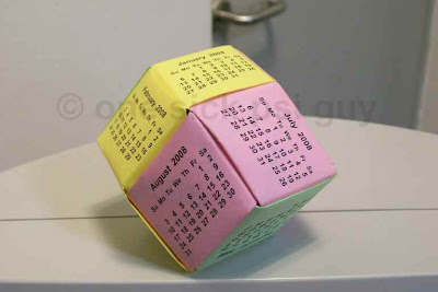 Eco-friendly recycled dodecahedron calendar